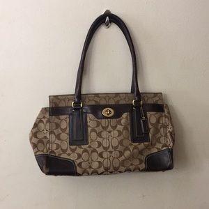 """Brown """"c"""" coach purse"""